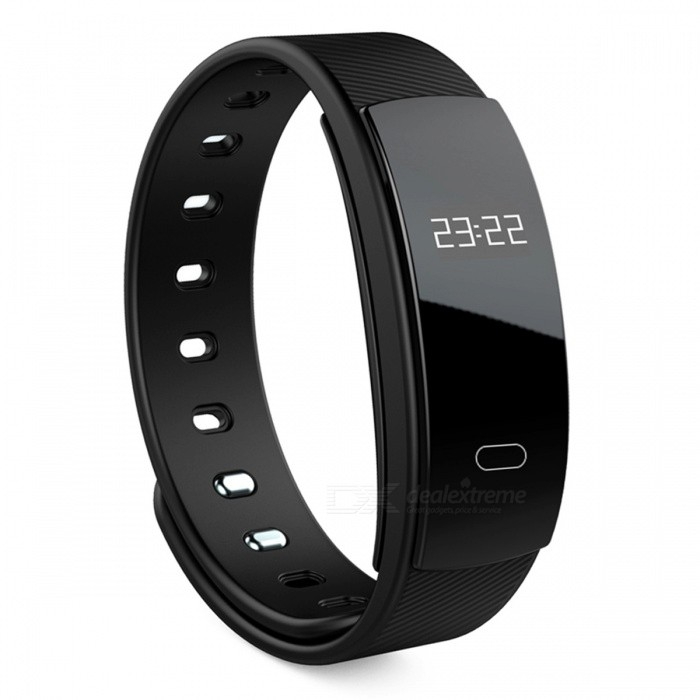 0.42 OLED IP67 Waterproof Fitness Tracker Wireless Sports Watch Wristband - BlackFitness electronics<br>Form  ColorBlackModelN/AQuantity1 DX.PCM.Model.AttributeModel.UnitMaterialPC &amp; TPUGenderUnisexScreen Size/ DX.PCM.Model.AttributeModel.UnitPowered ByBuilt-in BatteryPacking List1 x Fitness Tracker1 x User Manual1 x Charging Clamp<br>