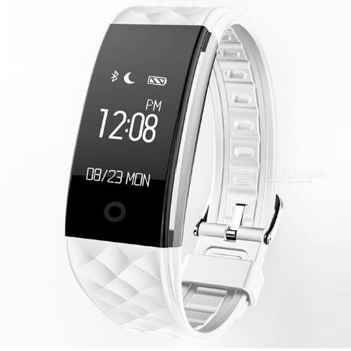 S2 0.96 OLED Bluetooth Smart Band Wristband with Heart Rate Monitor - WhiteFitness electronics<br>Form  ColorWhiteModelS2Quantity1 DX.PCM.Model.AttributeModel.UnitMaterialAlloyGenderUnisexScreen Size0.96 DX.PCM.Model.AttributeModel.UnitPowered ByBuilt-in BatteryBattery included or notYesWater ResistantOthers,IP67Packing List1 x Smart Bracelet<br>