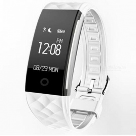"S2 0.96"" OLED Bluetooth Smart Band Wristband with Heart Rate Monitor - White"