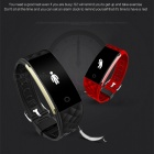 "S2 0.96"" OLED Bluetooth Smart Band Wristband with Heart Rate Monitor - Red"