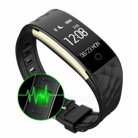 "S2 0.96"" OLED Bluetooth Smart Band Wristband with Heart Rate Monitor - Black"