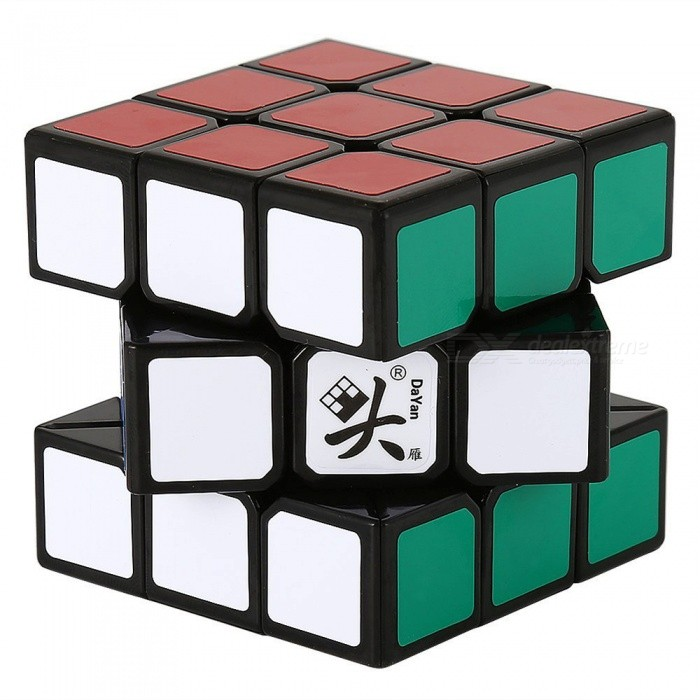 DaYan LunHui 56mm 3x3x3 Smooth Speed Magic Cube Puzzle Toy for Kids, Adults - Black