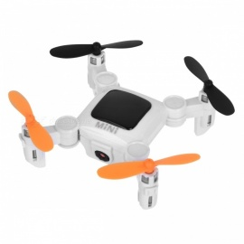 Ultra Mini Folding Four Axis Aircraft Drone RC Quadcopter Wi-Fi Edition with 0.3MP Camera, Cell Phone Holder - Black