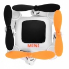 Ultra Mini Folding Four Axis Aircraft Drone RC Quadcopter Wi-Fi Edition with 0.3MP Camera, Cell Phone Holder - White + Black