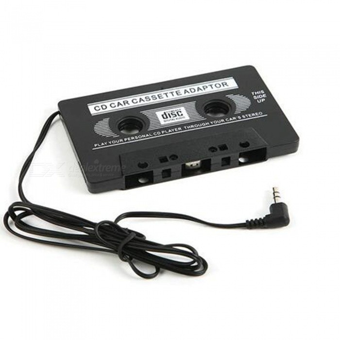 KELIMA 3.5mm Car MP3 CD Box Converter Adapter - BlackAudio Accessories<br>Form  ColorBlackModelN/AQuantity1 DX.PCM.Model.AttributeModel.UnitMaterialABSFunctionTrack: mono; This product is suitable for car cassette machine, household recorder, portable cassette-tape player such as a tape player; Convert MP3, MP4, CD, MD, computers, phones, etc to tape player; Place the tape as the normal one into your car recorder (audio cable out), and plug the audio cable on the headphone jack of your audio device (MP3, MD, CD, laptops), then turn on the audio device, play the recorder switch, and enjoy your music freely in your carInterface/Port3.5mmPower0 DX.PCM.Model.AttributeModel.UnitPower Supply0Packing List1 x Adapter<br>