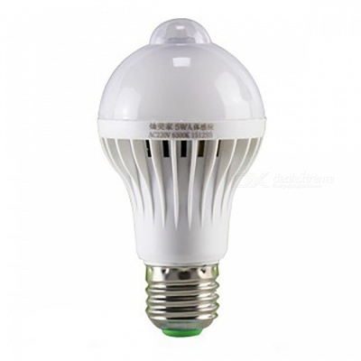 E27 5W 5730SMD 400LM Smart PIR Motion Sensor Infrared Body Cold White LED Bulb Light