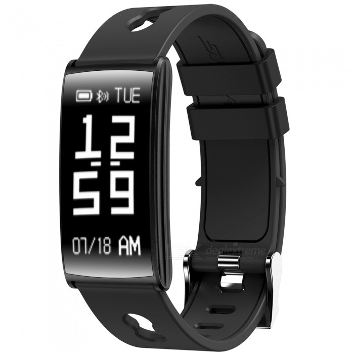 N109 Sports Bluetooth Smart Bracelet Wrist Band with Blood Pressure Heart Rate Monitoring - Black