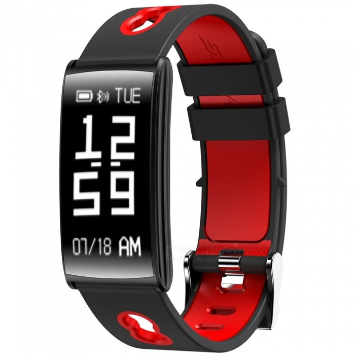 N109 Sports Bluetooth Smart Bracelet with Blood Pressure Heart Rate Monitoring - Red + BlackSmart Bracelets<br>Form  ColorRed + BlackModelN109Quantity1 setMaterialABSShade Of ColorRedWater-proofIP67Bluetooth VersionBluetooth V4.0Touch Screen TypeYesCompatible OSAndroid 4.4 and above,IOS 8.0 and above.Battery Capacity60 mAhBattery TypeLi-polymer batteryStandby Time5-7 daysPacking List1 x Smart Bracelet1 x User manual<br>