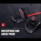 BH-05 IPX4 Waterproof Anti-sweat Sports Bluetooth V4.1 Wireless Stereo Earphone with Mic for Sports Exercise - Black + Red