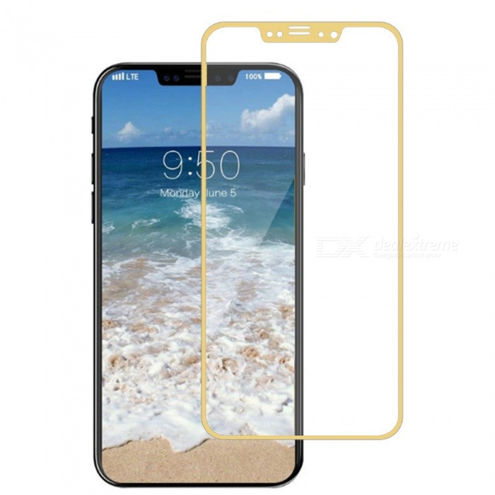 Naxtop Tempered Glass Screen Protector for Apple IPHONE X - Golden - Free  shipping - DealExtreme 3d9caead408