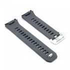 Stylish Buckle Type Silicone Smart Watch Band Strap for Fitbit Ionic - Gray