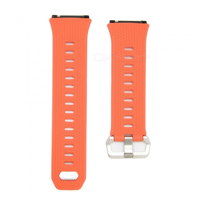 Buckle Type Smart Watch Silicone Strap for Fitbit Ionic - OrangeWearable Device Accessories<br>Form  ColorOrangeModelN/AQuantity1 DX.PCM.Model.AttributeModel.UnitMaterialSiliconePacking List1 x Watch Strap (12.4cm)1 x Watch Strap (9.6cm)<br>