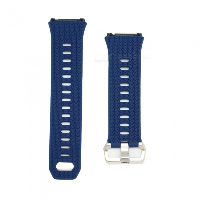 Buckle Type Smart Watch Silicone Strap for Fitbit Ionic - Navy BlueWearable Device Accessories<br>Form  ColorDeep BlueModelN/AQuantity1 DX.PCM.Model.AttributeModel.UnitMaterialSiliconePacking List1 x Watch Strap (12.4cm)1 x Watch Strap (9.6cm)<br>