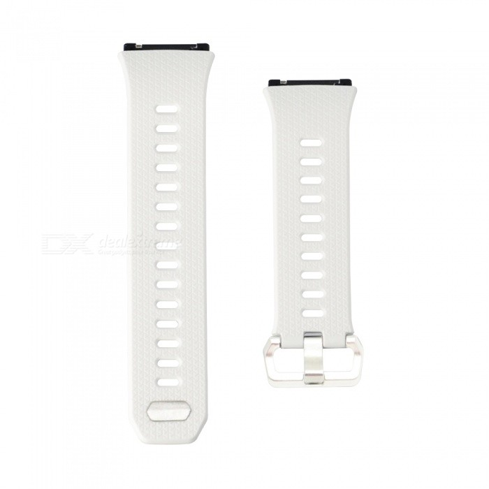Buckle Type Smart Watch Silicone Strap for Fitbit Ionic - WhiteWearable Device Accessories<br>Form  ColorWhiteModelN/AQuantity1 DX.PCM.Model.AttributeModel.UnitMaterialSiliconePacking List1 x Watch Strap (12.4cm)1 x Watch Strap (9.6cm)<br>