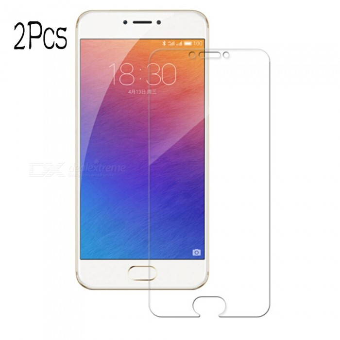 Naxtop Tempered Glass Screen Protector Film Guard for Meizu Pro 6S/6 - Transparent (2PCS)