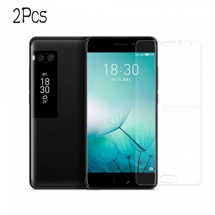 Naxtop Tempered Glass Screen Protector Film Guard for Meizu Pro 7 Plus - Transparent (2PCS)