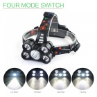 SPO V28-1 Outdoor Ultrabright Five T6 LED Headlight DC Port Rechargeable Headlamp for Fishing / Camping