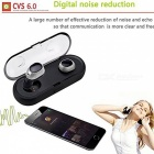 Mini Twins In-Ear Bluetooth V4.2 Stereo Earphones with Charging Dock for Running / Jogging - Black + Silver