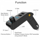 Buy Car Wireless Bluetooth Audio MP3 Player FM Transmitter Handsfree Kit TF Card Slot, USB Charging Port - Black