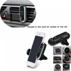 Bluetooth Car FM Transmitter Handsfree Car Kit MP3 Player AUX Audio Receiver Air Vent Phone Holder - Black