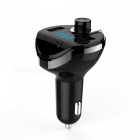 Car Bluetooth MP3 Player Kit Radio FM Transmitter Car Charger with TF Card Slot / Dual USB Ports - Black