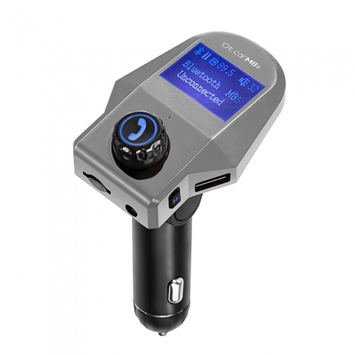 Car Bluetooth FM Transmitter Handsfree Car Kit Aux Audio MP3 Music Player - Silver
