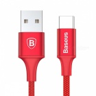 Baseus Rapid Series Type-C Charging Cable with Indicator Light for Samsung, Xiaomi and More Cell Phones - Red (25CM)