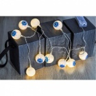 P-TOP 15cm 10Pcs Warm White LED Scary Eyeball Shape Bulbs Light String for Halloween (EU Plug)