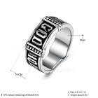 Men's Titanium Steel Cocktail Party Rock Punk Jewelry GOMAYA Simple Mysterious Totem Roman Alphabet Character Ring - Size 9