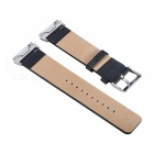 Replacement Head Layer Cowhide Watch Strap for Fitbit Ionic - Black