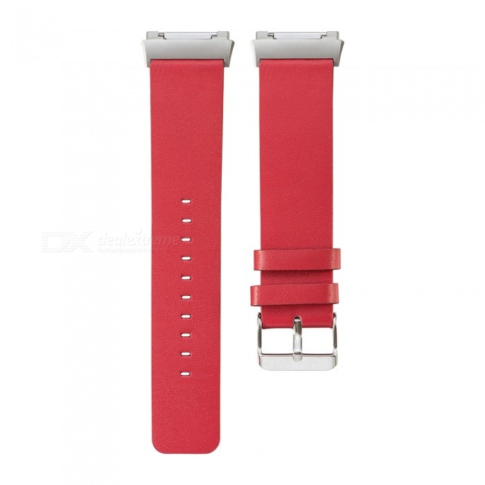 Replacement Head Layer Cowhide Watch Strap for Fitbit Ionic - RedWearable Device Accessories<br>Form  ColorRedModelN/AQuantity1 DX.PCM.Model.AttributeModel.UnitMaterialCow leatherPacking List1 x Watchband (12.5CM)1 x Watchband (10.5CM)<br>