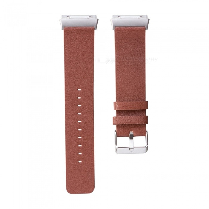 Replacement Head Layer Cowhide Watch Strap for Fitbit Ionic - BrownWearable Device Accessories<br>Form  ColorBrownModelN/AQuantity1 DX.PCM.Model.AttributeModel.UnitMaterialCow leatherPacking List1 x Watchband (12.5CM)1 x Watchband (10.5CM)<br>