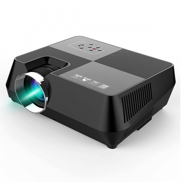 BLCR B8 Portable Mini 150Lumens HDMI USB Home LED Projector�� Video Game Movie Projector Beamer (EU Plug)