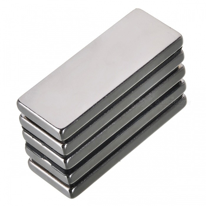 50mm*20mm*5mm Rectangle NdFeB Neodymium Magnet for DIY - Silver (5 PCS)Magnets Gadgets<br>Form  ColorSilver (5 PCS)Quantity1 setNumber5MaterialNdFeBSuitable Age Grown upsPacking List5 x Magnets<br>
