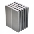 50mm*20mm*5mm Rectangle NdFeB Neodymium Magnet for DIY - Silver (10 PCS)