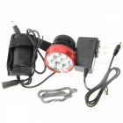 ZHAOYAO Ultrabright Bicycle XM-L2 T6 3-Mode 7-LED Headlight Mountain Bike Headlamp - Red + Black
