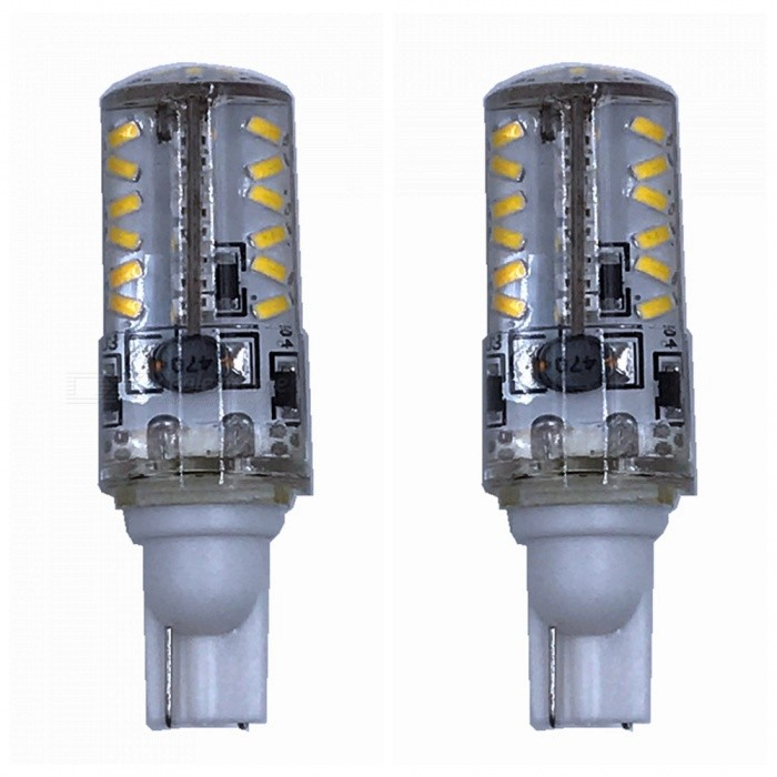 ZHAOYAO T10 3W AC/DC-12V 3014SMD-57LEDs Warm White Light Silicone LED Lamp (2 PCS)Car Interior Lights<br>Color BINWarm WhiteModel3014-57L-WW-2Quantity2 DX.PCM.Model.AttributeModel.UnitMaterialSiliconeForm  ColorWhiteEmitter TypeOthers,3014 SMD LEDChip BrandOthers,LEDChip Type3014SMDTotal EmittersOthers,57Power3WColor Temperature2800-3500 DX.PCM.Model.AttributeModel.UnitActual Lumens100-250 DX.PCM.Model.AttributeModel.UnitRate VoltageAC/DC-12VWaterproof FunctionYesConnector TypeT10ApplicationLicense plate light,Steering light,Clearance lamp,Side light,Reading lampPacking List2 x LED Bulbs<br>
