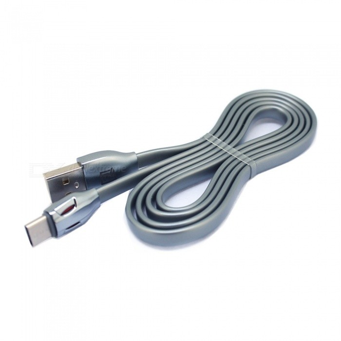 2.1A USB Type-C Fast Charge Charging Data Sync Cable Macbook Xiaomi Devices - Grey