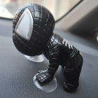 360 Degree Rotating Cute Climbing Suction Cup Doll Toy for Car Decoration - Black