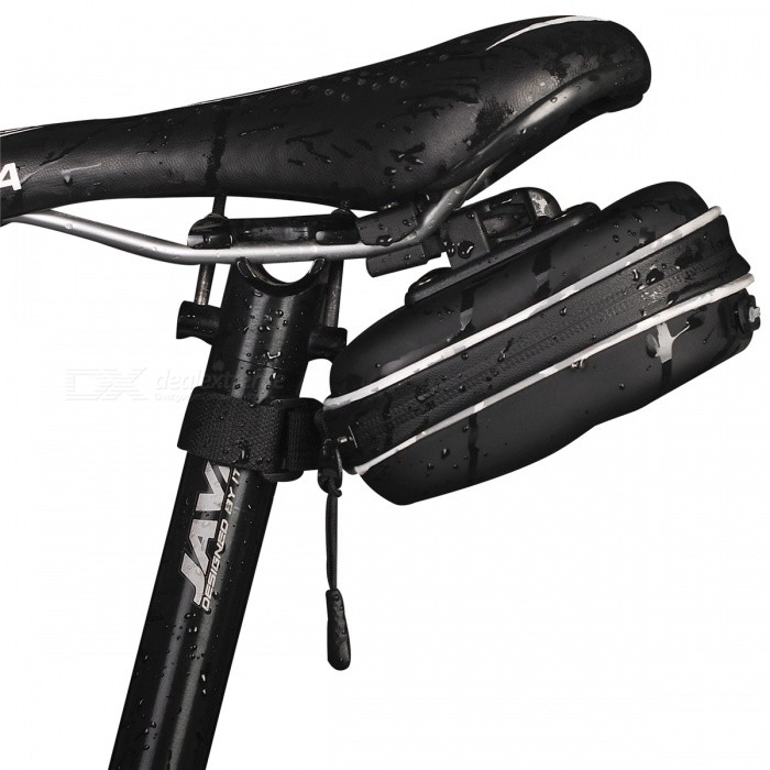 NUCKILY PL03 Bicycle Saddle Seat Cushion Reflective Strip Tail Bag - BlackBike Bags<br>Form  ColorBlackModelPL03Quantity1 DX.PCM.Model.AttributeModel.UnitMaterialEVATypeSaddle BagsCapacity0 DX.PCM.Model.AttributeModel.UnitWaterproofYesGenderUnisexBest UseCycling,Mountain Cycling,Recreational Cycling,Road Cycling,Bike commuting &amp; touringPacking List1 x Saddle bag<br>