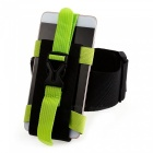 CTSmart Multi-Function Outdoor Adjustable Mobile Phone Arm Band for Riding Mountaineering Fishing Night Running - Green