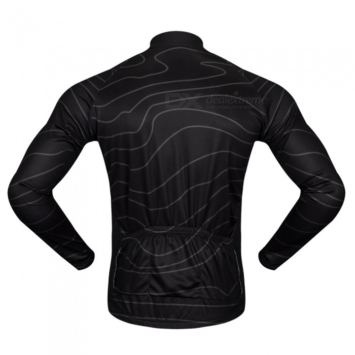 ... WOSAWE BC234 Unisex High Elastic Long Sleeve Cycling Jersey for Spring  Autumn - Black (M 1f1b585ae