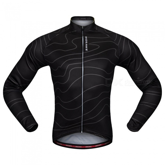 WOSAWE BC234 Unisex High Elastic Long Sleeve Cycling Jersey for Spring Autumn - Black (XXL)Form  ColorBlackSizeXXLModelBC234Quantity1 DX.PCM.Model.AttributeModel.UnitMaterial100% POLYESTERGenderUnisexSeasonsSpring and SummerShoulder Width21 DX.PCM.Model.AttributeModel.UnitChest Girth118-126 DX.PCM.Model.AttributeModel.UnitSleeve Length57 DX.PCM.Model.AttributeModel.UnitWaist118-126 DX.PCM.Model.AttributeModel.UnitTotal LengthNo DX.PCM.Model.AttributeModel.UnitSuitable for Height180-185 DX.PCM.Model.AttributeModel.UnitBest UseCycling,Mountain Cycling,Road CyclingSuitable forAdultsTypeOthers,Mountain bike cycling Ourdoor sportsPacking List1 x Jersey<br>