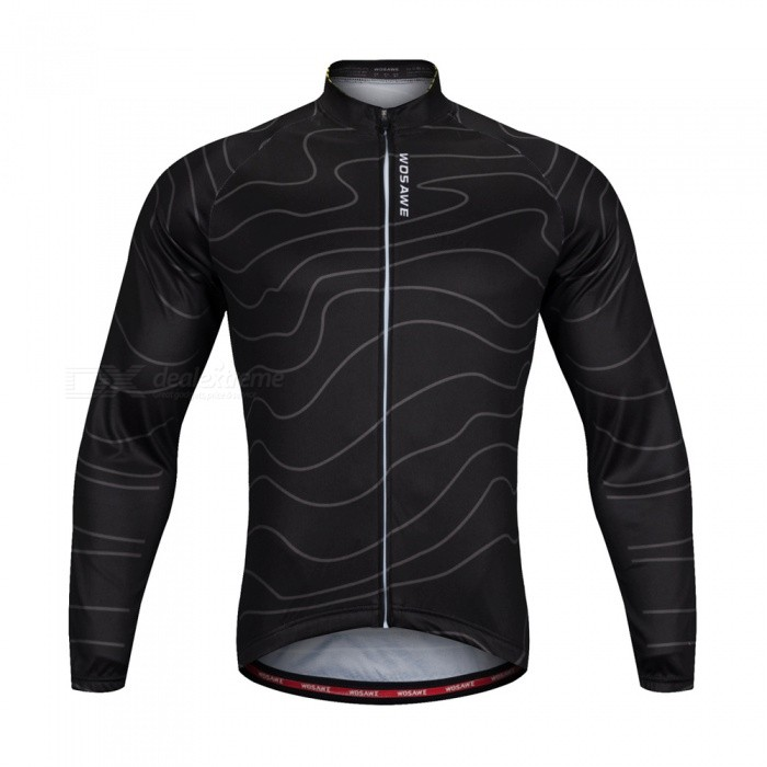 ... WOSAWE BC234 Unisex High Elastic Long Sleeve Cycling Jersey for Spring  Autumn - Black (XXL ... bd07fc052