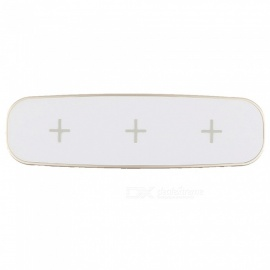 OJADE F3 Fast Quick Charge Wireless Three Charging Qi Charger - White (US Plug)