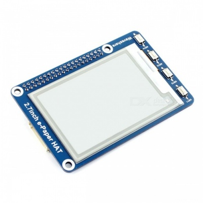 Waveshare 264x176 2.7 Inches E-Ink Display HAT for Raspberry Pi, Arduino, Nucleo