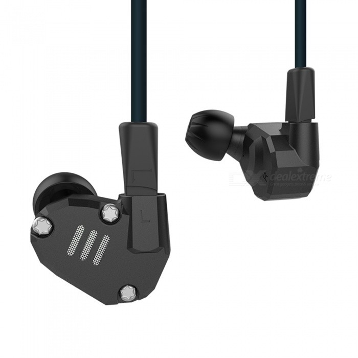 KZ ZS6 Metal 2DD+2BA Hi-Fi DJ Monitor Running Sports 3.5mm Wired In-Ear Earphone - BlackHeadphones<br>Form  ColorBlack (Without Mic)BrandKZModelZS6MaterialAluminum alloy + TPEQuantity1 DX.PCM.Model.AttributeModel.UnitConnection3.5mm WiredBluetooth VersionNoConnects Two Phones SimultaneouslyNoCable Length120 DX.PCM.Model.AttributeModel.UnitLeft &amp; Right Cables TypeEqual LengthHeadphone StyleBilateral,Earbud,In-EarWaterproof LevelIPX4Applicable ProductsUniversal,IPHONE 7,IPHONE 7 PLUSHeadphone FeaturesHiFi,Phone Control,Noise-Canceling,For Sports &amp; ExerciseRadio TunerNoSupport Memory CardNoSupport Apt-XNoChannels2.0SNR98dB±2dBSensitivity105dB/mWTHDFrequency Response7-40000HzImpedance15 DX.PCM.Model.AttributeModel.UnitDriver Unit2DD+2BA hybrid driver unit * 2Battery TypeOthers,NOPacking List1 x KZ ZST In-Ear Earphone6 x Pairs of earbud caps (1 set on earphone)<br>