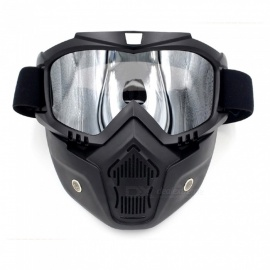 Stylish Motorcycle Helmet Mask Harley Goggles for Outdoor Bike Riding - Black + Yellow