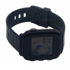 SMAWATCH Large Screen Sports Smart Watch with Heart Rate Monitor - Black