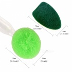 Kitchen Cleaning Brush Scrubber, Dish-washing Sponge & Soap Dispenser with Handle - Green